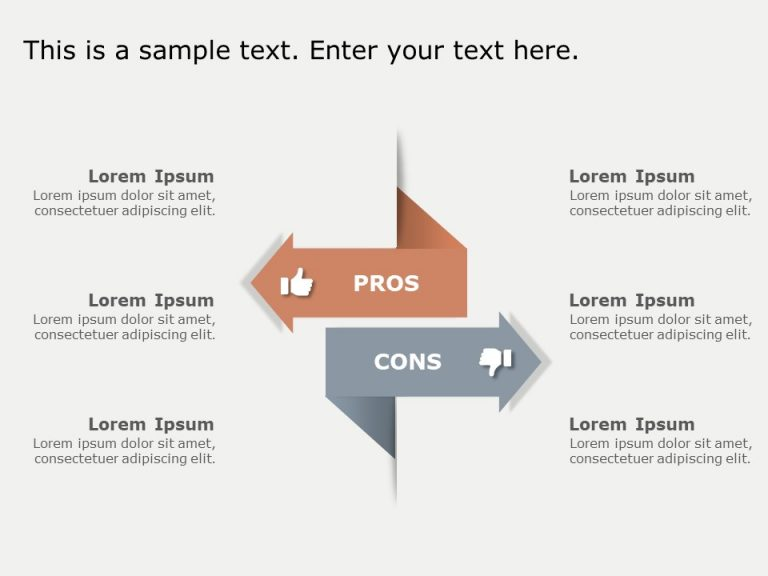 Pros and Cons Arrows Template