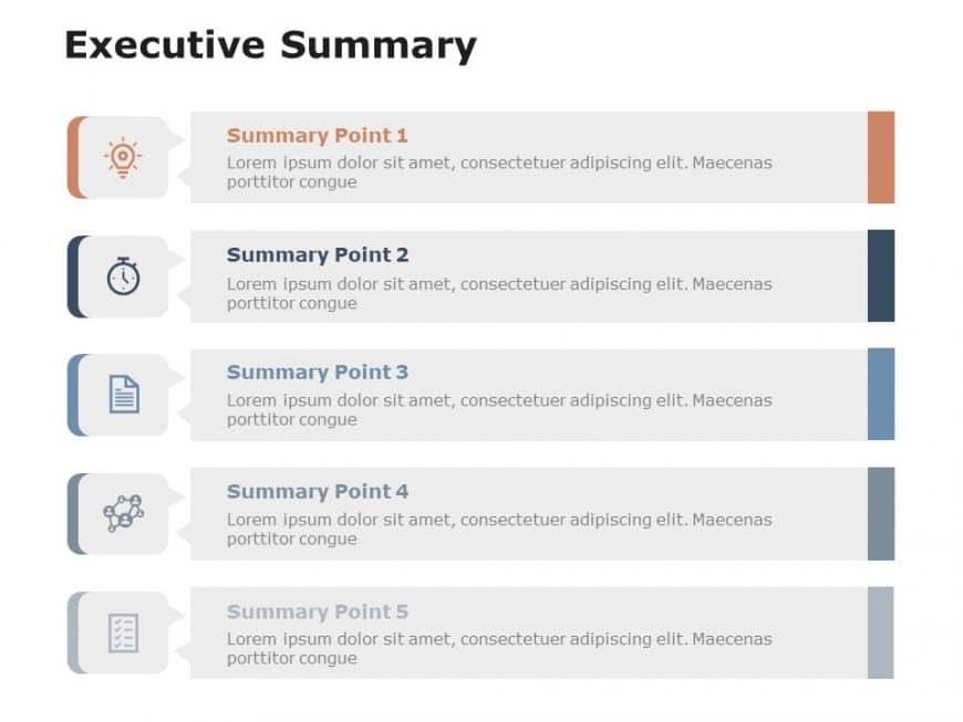 Free Executive Summary Slides 5 Steps