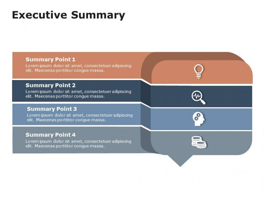 Executive Summary Slides 5 Point Callout