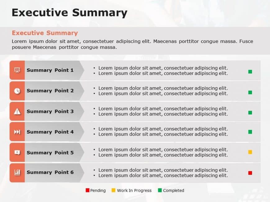 Executive Summary Slides Project Status Update
