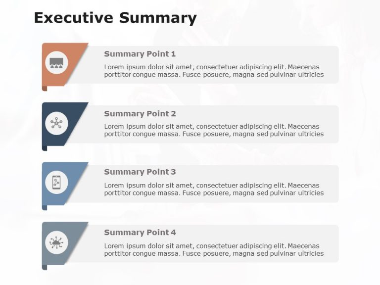 Executive Summary Slide 4 Points