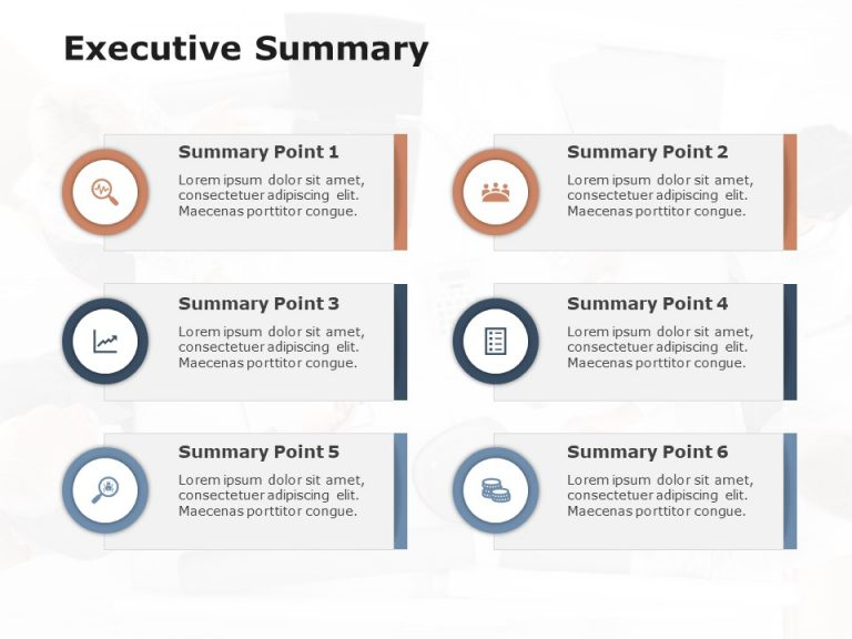 Executive Summary Slide 6 Points