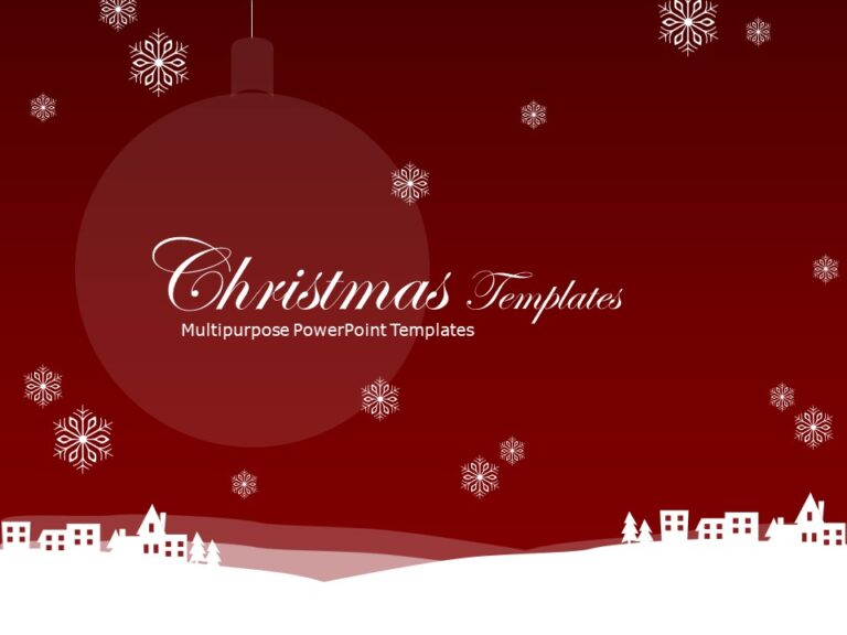 Christmas PowerPoint Template 1