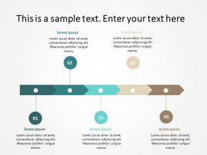 5 Steps Process flow PowerPoint Template