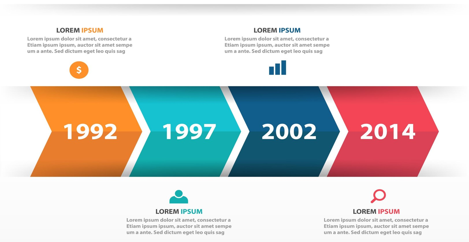 Creative Representation of Business Timelines on PowerPoint