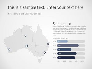 Australia Map PowerPoint Template 1