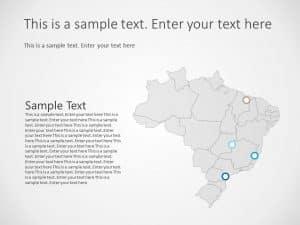 Brazil Map PowerPoint Template
