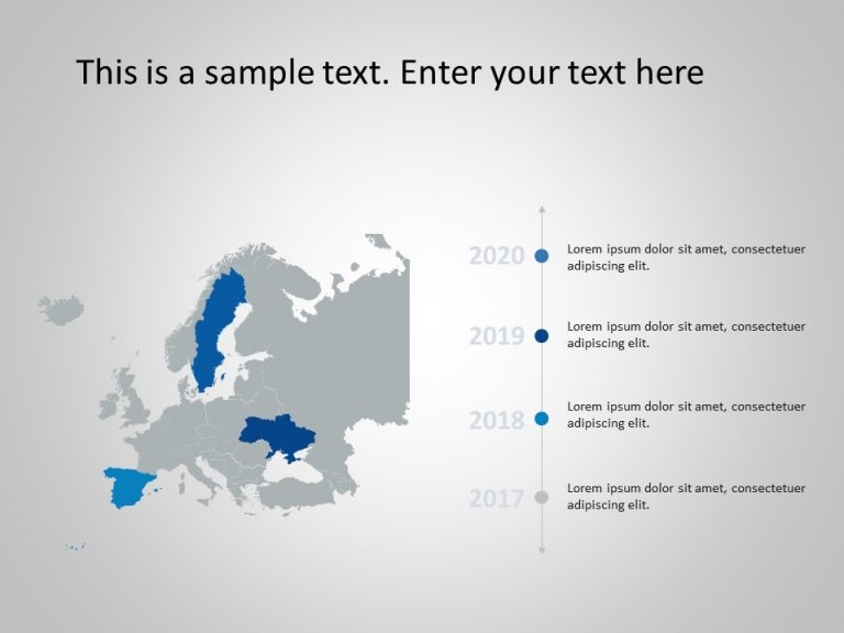 Europe Map PowerPoint Template 7