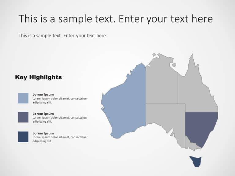 Australia Map PowerPoint Template 8