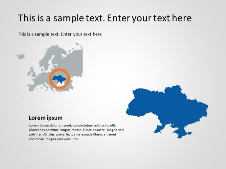 Europe Map PowerPoint Template 5