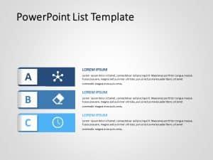 PowerPoint List Template 3