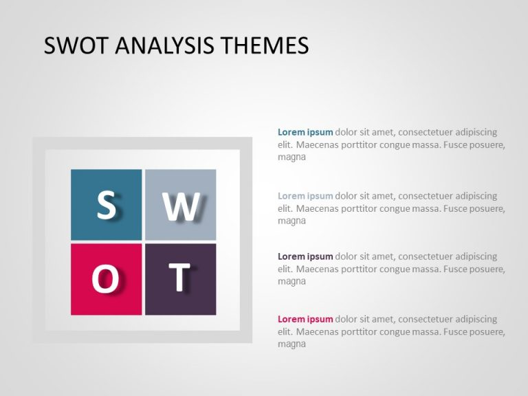 Free SWOT Analysis PowerPoint Template 15
