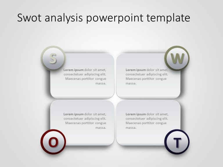 Free SWOT Analysis PowerPoint Template 20