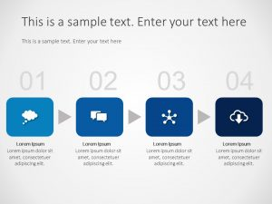 4 Steps Business Process PowerPoint Template