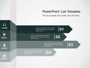 4 Steps List Strategy PowerPoint Template