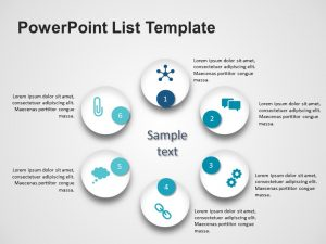 6 Steps Product Features PowerPoint Template