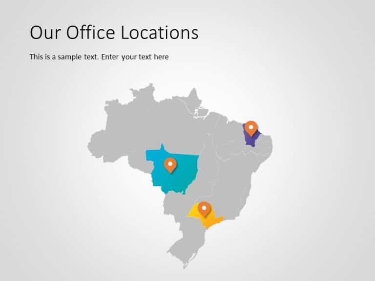 Brazil Map PowerPoint Template 4
