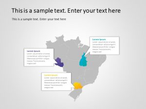 Brazil Map PowerPoint Template 6