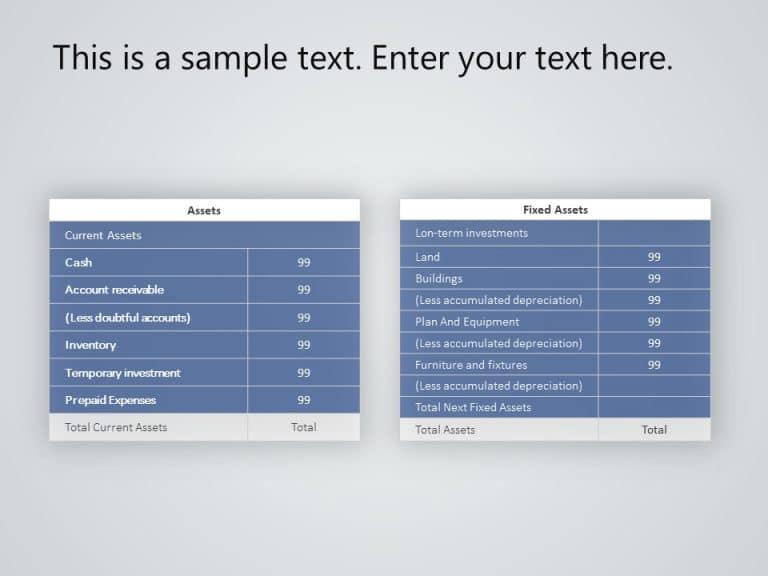 Asset Financial Analysis PowerPoint template