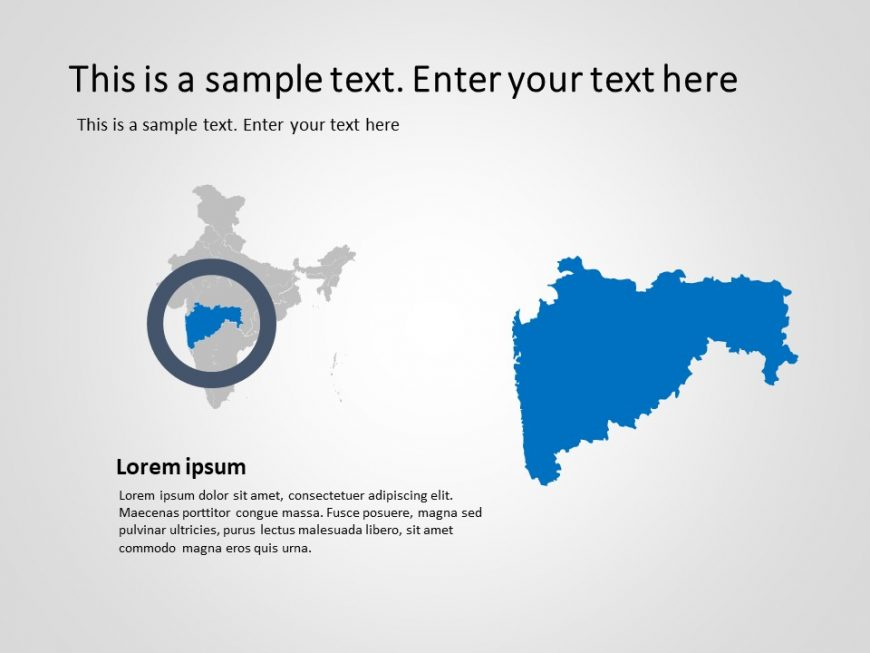 India Map Powerpoint Template 5