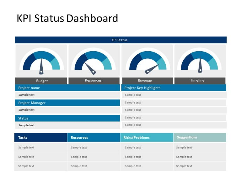 Project Dashboard PowerPoint 3