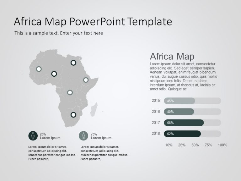 Africa Map PowerPoint Template 10