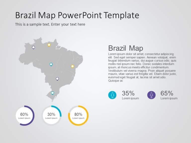 Brazil Map PowerPoint Template 8