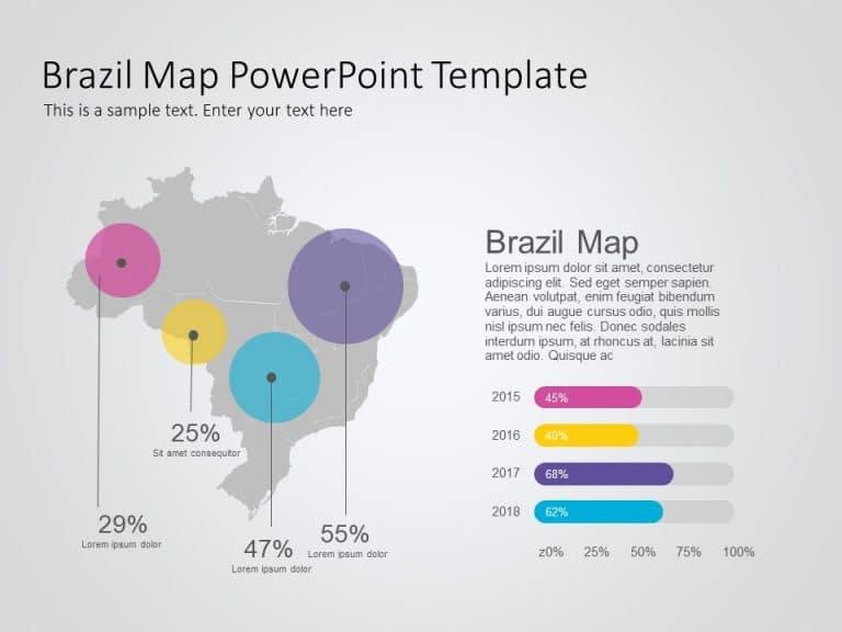 Brazil Map PowerPoint Template 10