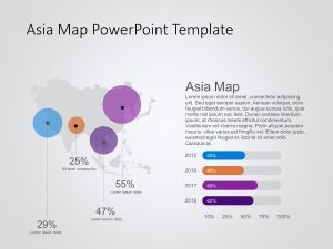 Asia Map PowerPoint Template 10