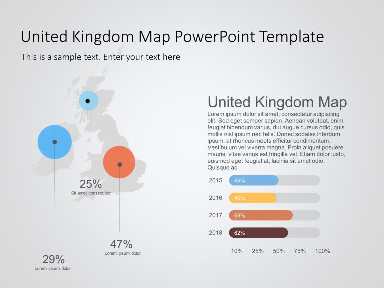 United Kingdom Map PowerPoint Template 10
