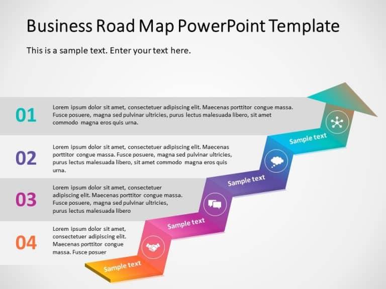 Business roadmap PowerPoint Template 11