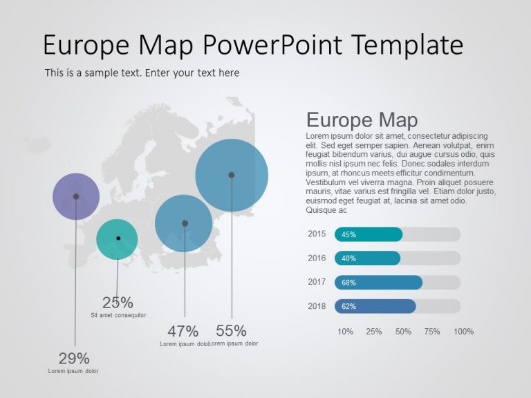 Europe Map PowerPoint Template 10