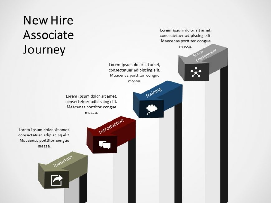 New hire associate journey PowerPoint Template