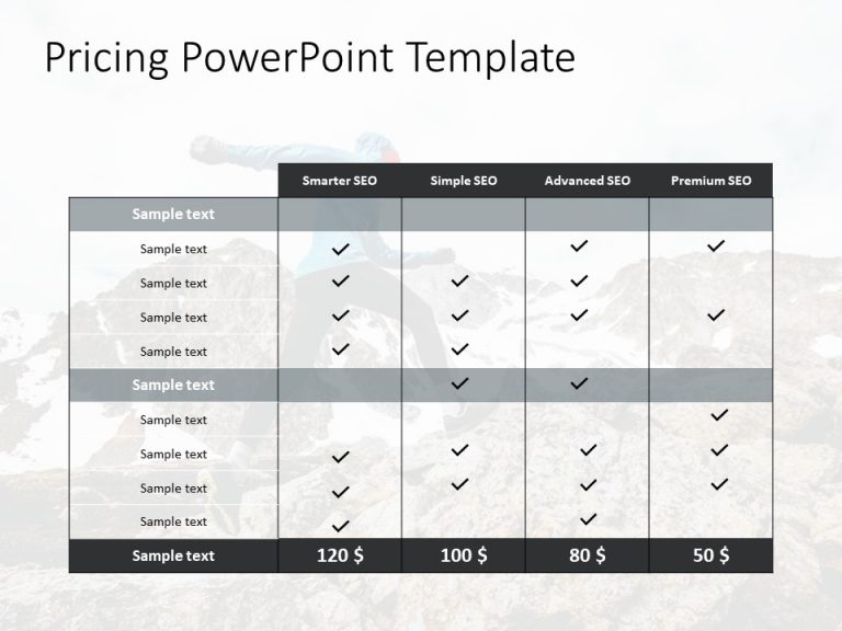 Pricing PowerPoint Template 2