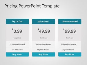 Pricing PowerPoint Template 4