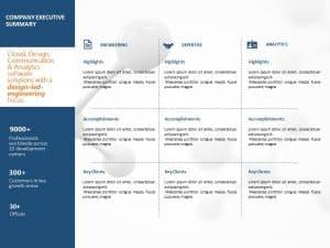 Company Executive Summary PowerPoint Template