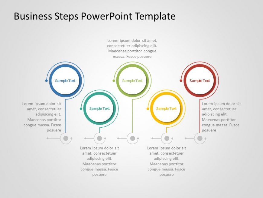 Business Steps PowerPoint Template 1