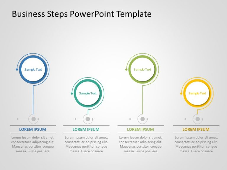Business Steps PowerPoint Template 2