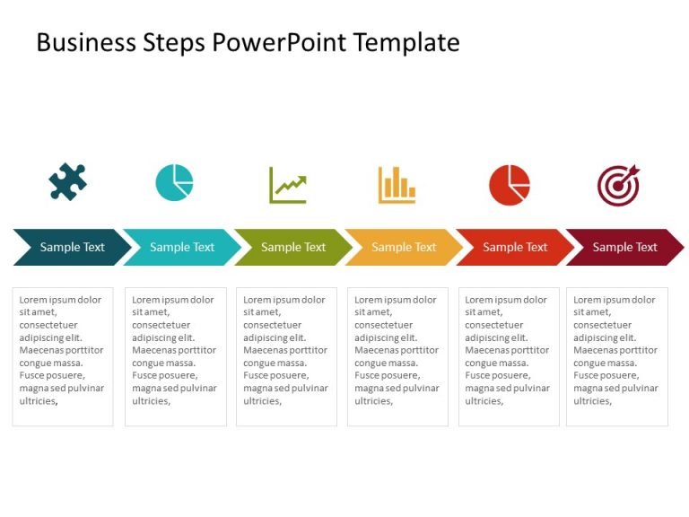 Business Steps PowerPoint Template 3