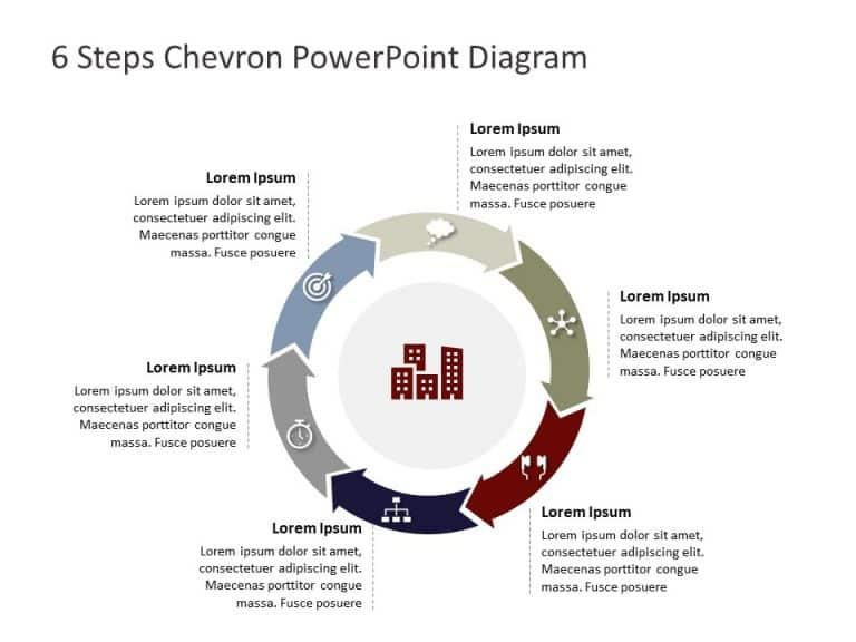 6 Steps Chevron PowerPoint Diagram