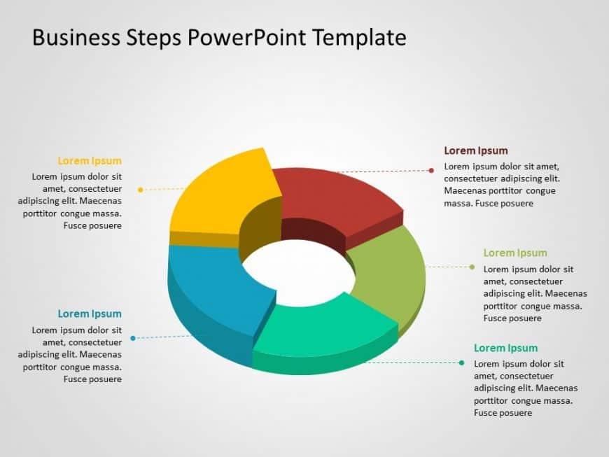 3D Business Steps PowerPoint Template