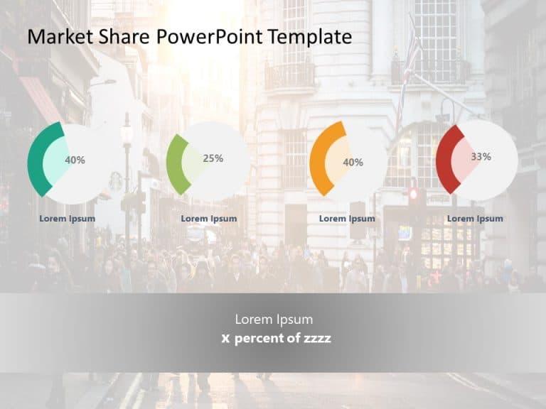 Market Share PowerPoint Template 1
