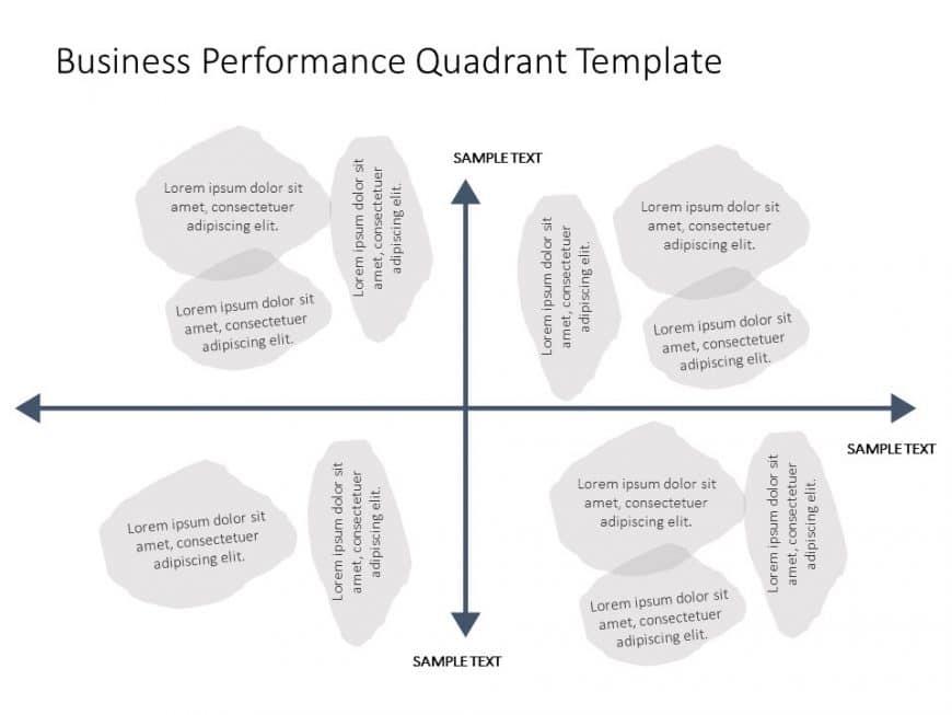 Business Performance Quadrant PowerPoint Template