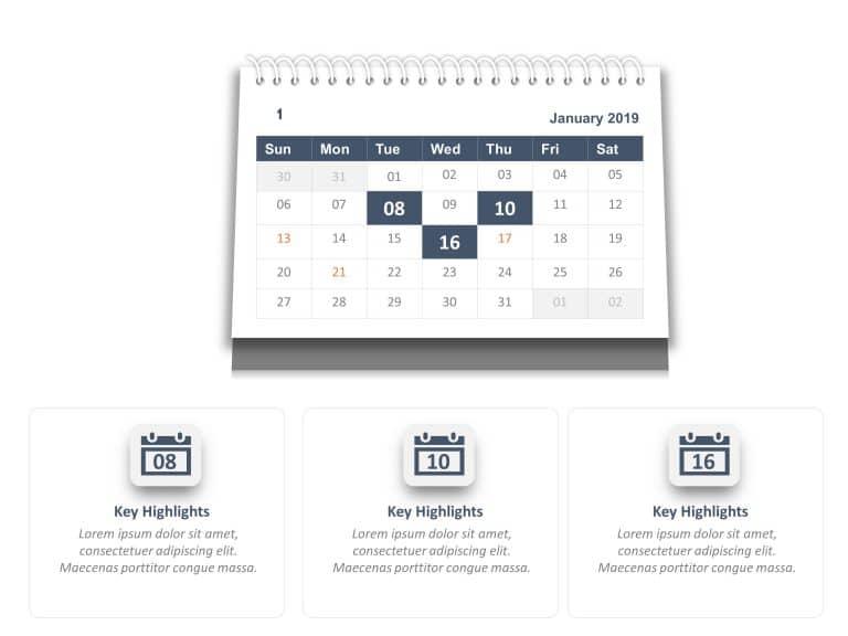 Calendar PowerPoint Template 7