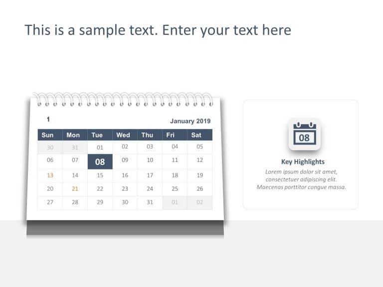 Calendar PowerPoint Template 8