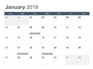Calendar PowerPoint Template 9
