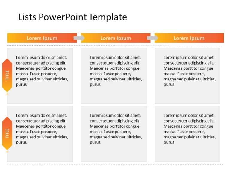 PowerPoint List Template 49
