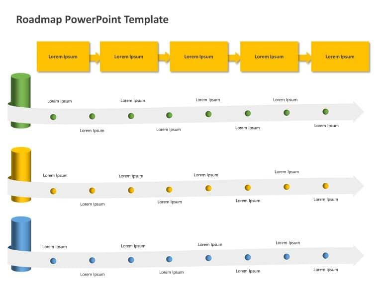 Business Roadmap PowerPoint Template 36