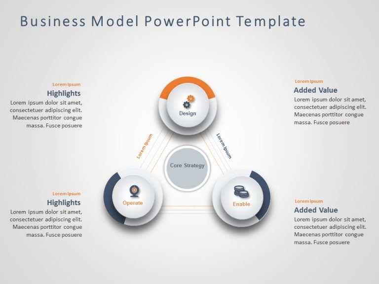 Business Model PowerPoint Template 6