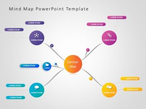 Mind Map PowerPoint Template 6